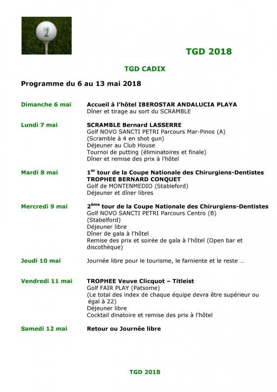 Tgd cadix 2018 programme